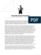 Business plan for security company