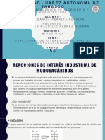 reacciones de interes industrial de monosacaridos
