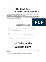ww1 soldier experience packet