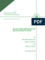Block shear behavior of bolted gusset plate (Huns-Grondin-Driver).pdf