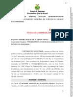 Decisão sobre pedido de habeas corpus de Simone Papaiz