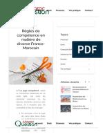 Convention de divorce entre Français et Marocain.