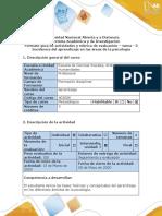Guía de actividades y rubrica de evaluación – tarea - 3 Incidencia del aprendizaje en las áreas de la psicología ..pdf