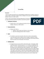 lesson plan observation 2
