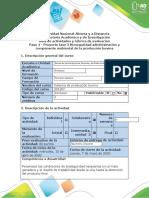 Guía de actividades y rúbrica de evaluación Paso 4 - Proyecto Fase 3 Bioseguridad administración y componente ambiental de la producción bovina