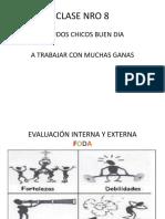 CLASE 8 EVALUACIÓN INTERNA Y EXTERNA FODA