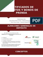 CERTIFICADOS DE DEPOSITOS Y BONOS DE PRENDA (1) (3)