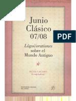 Claudio Lizárraga - Orden y justicia en el pensamiento político tardo-republicano en Roma Salustio y Cicerón