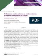 Artigo - Avaliaçao das reaçoes adversas ao uso de contrastes em exames de diagnóstico por imagem - 2017