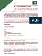 Unidad N° 3 - Estructuras de Decisión Lógica
