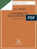 Martin Heidegger - Contributi alla filosofia (Dall'Evento)-Adelphi (2019)
