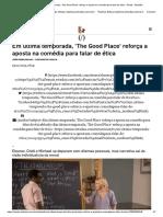 MALAR, JP. Filosofia e ética na série The good Place