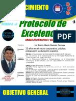 Unidad de Principios y Valores alcaldía de Zacatecoluca. 25 junio. PROTOCOLO DE EXCELENCIA
