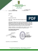 Surat an Peminjaman Tempat