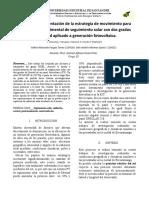 2 Diseño e implementación de la estrategia de movimiento para una unidad experimental de seguimiento solar con dos grados de libertad aplicado a generación fotovoltaica