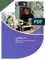 Anexo - Prestaciones integrales de salud