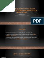 Larutan elektrolit dan non elektrolit serta system buffer
