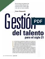 Gestión del talento para el siglo 21