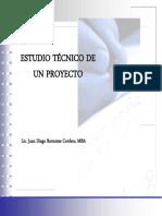 El estudio tecnico de un proyecto