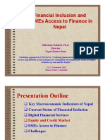 Session 6 Financial inclusion and MSMEs Access to Finance in Nepal