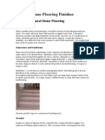 Natural Stone Flooring Finishes