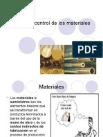 Control y costeo de materiales