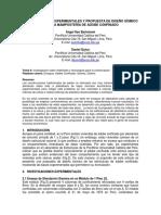 Investigaciones experimentales y propuesta de diseño sismico para la mamposteria de adobe confinado