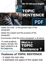 Presentation  TOPIC SENTENCE