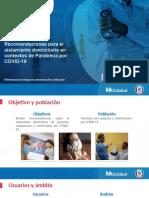 Recomendaciones Aislamiento Domiciliario COVID 19