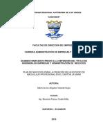 PLAN DE NEGOCIOS PARA LA CREACIÓN DE UN ESTUDIO DE MAQUILLAJE PROFESIONAL EN EL CANTÓN LA MANÁ - COMPLEXIVO VELARDE MARÍA 2