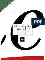 Référentiel label qualité FLE