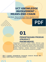 Product Knowledge and Involvement Means End Chain