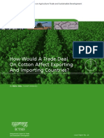 How Would a Trade Deal on Cotton Affect Exporting and Importing Countries