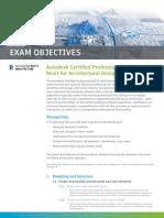 ACP Exam Objectives Revit Architecture