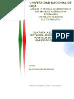Guia proyectos, informes, artículos y ponencia inv. formativa