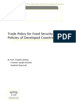 Trade policy for food security farm policies of developed countries