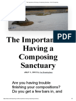The Importance of Having a Composing Sanctuary - Art of Composing