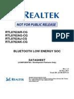 Data sheet RTL8762AR-CG-Realtek
