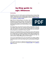 Step by Step Guide to Strategic Alliances