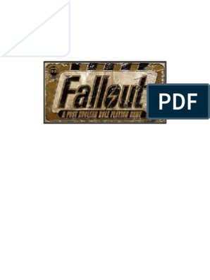 Fallout Pnp 1 6 | Role Playing Games | Karma