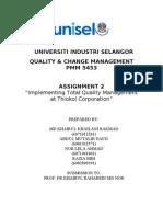 Qcm Thiokol Case Study Assginment 2