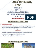 1.4.1.2 Mode of Production