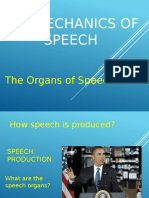 THE MECHANICS OF SPEECH