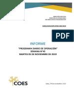 SPR-IPDO-309-2019 INFORME DEL PROGRAMA DIARIO DE OPERACIÓN DEL SEIN