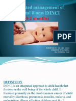 Intregrated management of neonatal illness (0-2 months