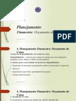 Cap 3. Planejamento Financeiro