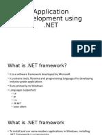 Application Development using dot NET