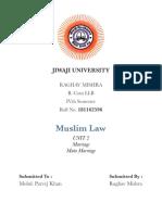 Family Law 2 (muslim law ) Unit 2