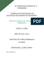 PROYECTO DE CATEDRA- AMBIENTAL-2013