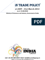 Foreign Trade Policy, 27th August 2009 - 31st March 2014